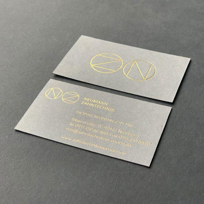 Neumann Zahntechnik Visitenkarte